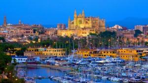 Palma de Mallorca - Puerto y Catedral la Seu